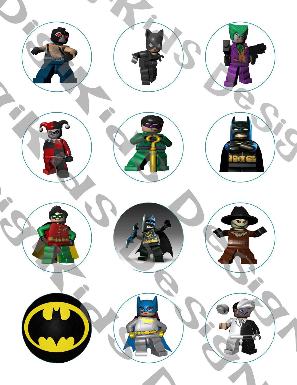 It is a graphic of Batman Cupcake Toppers Printable with fathers day