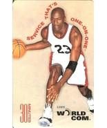 michael jordan phone card world com chicago bulls rare - $19.99