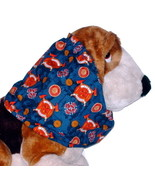 Fire Fighter Emblems Navy Cotton Dog Snood Size Puppy SHORT CLEARANCE - $4.75