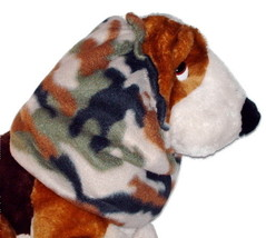Dog Snood Woodland Camouflage Fleece Cavalier KC Spaniel Cocker Puppy SHORT - $9.50