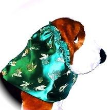 Green floral brocade dog snood  af thumb200