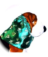Green Flowers and Leaves Brocade Dog Snood Size Small CLEARANCE - $5.75