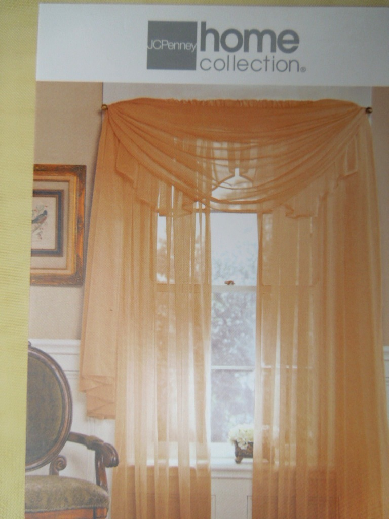 "Extra Long Lisette Scarf Valance SOFT YELLOW 60"" x 213""   #6943"