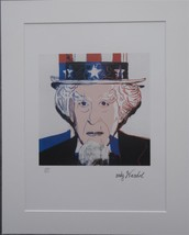 Andy Warhol signed Uncle Sam authenticated lithograph 2781/5000 - $680.00
