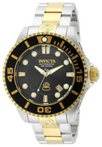 Invicta 19803 Men's Pro Diver Automatic Dive Black Dial Two Tone Steel Bracelet - $146.99