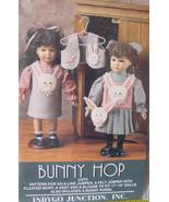 """Pattern for 17-18"""" Dolls """"Bunny Hop"""" Felt Jumper, Vests & Purse - $6.95"""