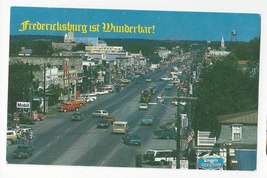 Texas Fredericksburg Aerial Street View 1993 Vtg Postcard TX - $4.99