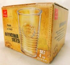 Bormioli Rocco Italy Drinking Tumbler Glasses Officina 1825 Set 4 Ribbed... - $14.99