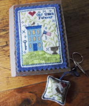 Patriotic Stitch Book cross stitch chart Chessie & Me   - $10.80