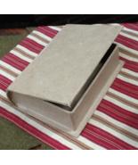 Paper Mache Book Box unfinished Tudor Rose Stitch Book cross stitch char... - $6.00