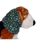 Dog Snood-Green Holiday Dog Bones Cotton-Basset Hound-Spaniel-Small- CLE... - $5.75