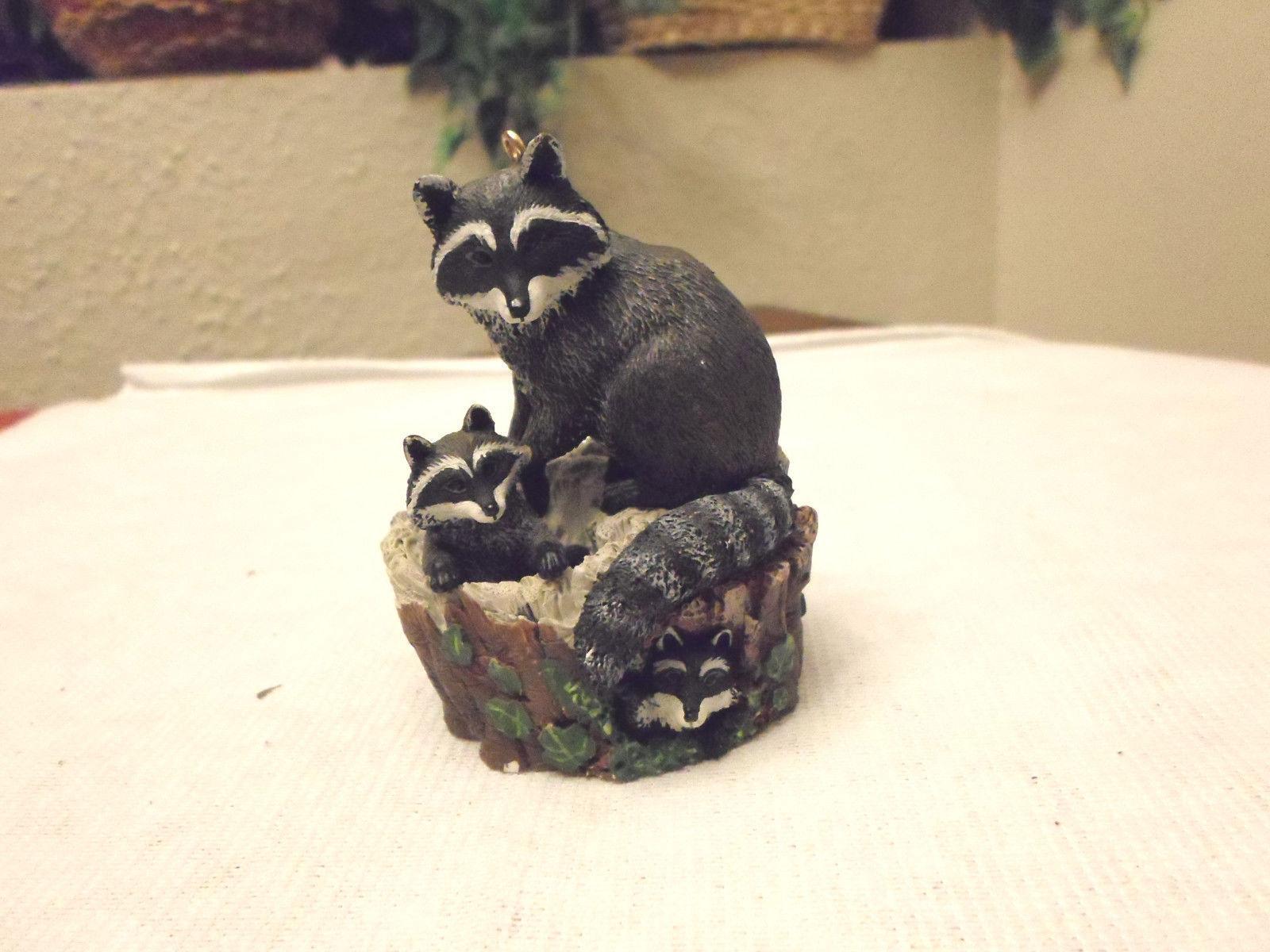 Hallmark Curious Raccoons 1999 Christmas Ornament