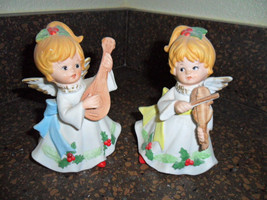 Homco Christmas Angel Figurines - Set of 2 - $14.99