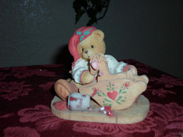 """Cherished Teddies Bear """"Painting Your Holidays with Love"""" Christmas Figu... - $9.99"""