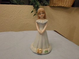 Enesco Growing Up Girls Figurine Age 10 - Brunette - $9.99