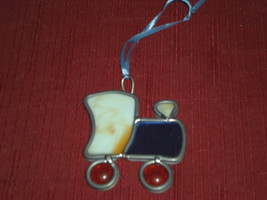 Stained Glass Train Christmas Ornament - $9.99