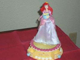 Gemmy Disney Princess Ariel Musical Birthday Cake Table Top Spinner Musi... - $14.99