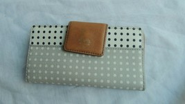 Vintage Fossil Organizer Clutch Wallet Trifold - $24.99