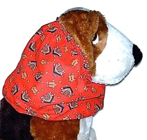 Dog Snood Gingerbread Men Houses Cotton Basset Hound Springer Small CLEARANCE