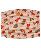 Dog Snood-Beige Christmas Gingerbread Men Cotton-Cavalier-Puppy SHORT-CL... - $4.75