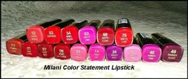 New MILANI Color Statement Lipstick  Vibrant Colors  You Choose - $6.75