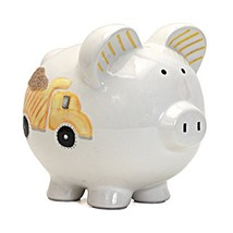 Child to Cherish Ceramic Piggy Bank for Boys, Digger Dump Truck - $21.95
