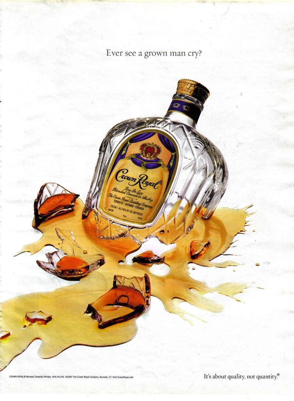 Crown Royal Whisky Full Page Color Print Ad - Original -  - Crown Royal