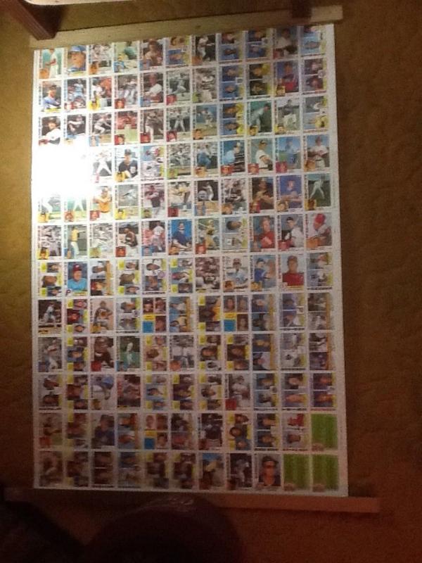 Topps 1984 Uncut Nestle Baseball Cards Sheet And 50 Similar