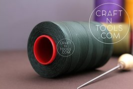 0.8mm Green Ritza 25 Tiger Waxed Polyester Thread 25 - 500m length (125m). Juliu - $27.44