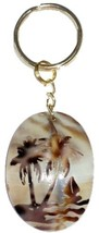 Palm Tree Ocean Beach Tropical Island Cowrie Sh... - $12.00