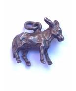 Vintage Sterling Silver Jackass Donkey Bracelet Charm - $24.19