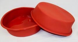 "Set of 2 Silicone Terra Cotta 9"" Round Cake Pans ~ 2.5"" Deep Non-stick B... - $14.65"