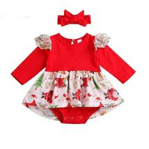 Newborn Christmas romper outfit dress - $9.99