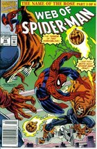Web of Spider-Man #86 : The Dark Within (The Name of the Rose - Marvel C... - $3.91