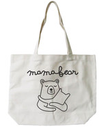 Mama Bear Canvas Tote Bag - 100% Cotton Eco Bag, Shopping Bag, Book Bag - $15.99