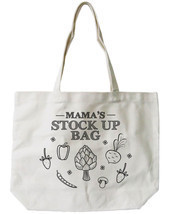Mama's Stock Up Canvas Tote Bag - 100% Cotton Eco Bag, Shopping Bag, Boo... - $21.25 CAD