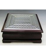 Wood & Sterling Silver Tea Box [Kitchen] - $119.26