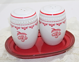 Vintage Cherry Fruit Ceramic Salt & Pepper Shak... - $12.00
