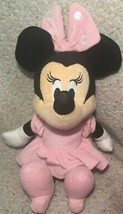 "Disney Baby Minnie Mouse 15"" Rattler Pink Dress Toy Soft Plush Stuffed A... - $13.99"