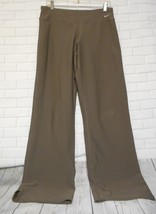 Nike Fit Dry Women's Size Medium Brown Straight Leg Workout Athletic Yoga Pants - $18.06