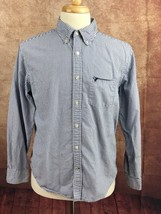 American Eagle Outfitters Classic Fit Blue White Stripe Shirt Men's L - $13.85