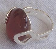 Primary image for Red stone silver ring C