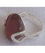 Red stone silver ring C - $24.00