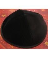 """LOT OF 2 KIPPA size: 8"""" / 18cm Black Velvet Yarmulke Kipa Kippah skullca... - £6.00 GBP"""
