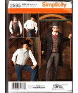 Simplicity 2895 WESTERN FROCK COAT SHIRT VEST COSTUMES MEN'S 38-44 OOP - $35.00