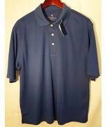 Palm beach performance golf polo shirt men m/medium blue polyester NWT - $29.69