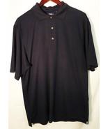 PGA Tour performance athletic men short sleeve golf polo shirt medium da... - $20.79