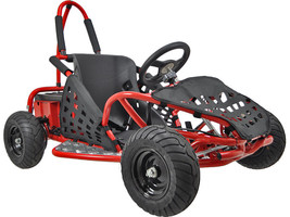 1000 Watt Electric Off Road Go Kart 3 Speed Control + Speeds Up To 20 MPH Red - $819.00