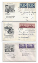 FDC Lot of 3 Sc 941 942 943 Art Craft Cachet First Day Covers Iowa Tenne... - $4.99