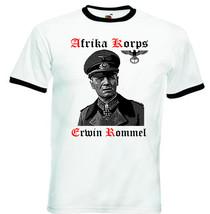 Erwin Rommel Afrika Korps Wwii Germany   Black Ringer Cotton Tshirt S M L Xl Xxl - $37.84